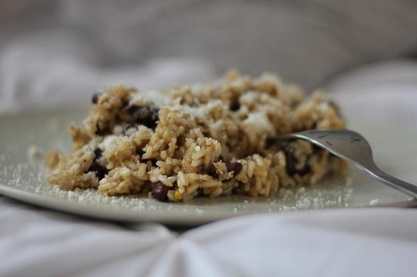 orez cu fasole si parmezan