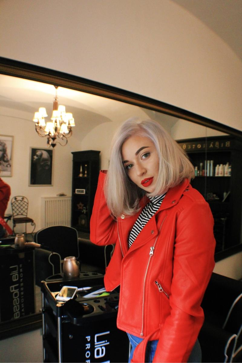 Despre blondul platinat obtinut la Vanity Hair Salon